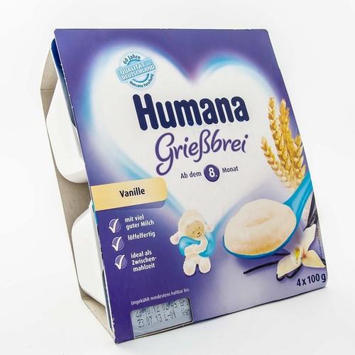 ХУМАНА Пудинг манный с ванилью для пит. детей от 8 мес. и старше 400г (4 * 100г) купить в Харькове