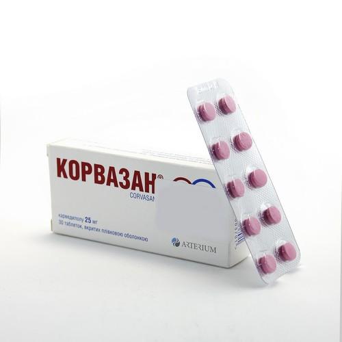 КОРВАЗАН ТАБ. 0,025Г №30 купить в Ирпене