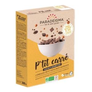 Парадигма Кранчі з гречаного борошна з какао та лісовим горіхом 300г  Paradeigma Франція (бісквітні