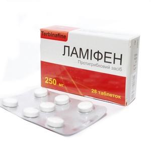 ЛАМИФЕН ТАБ. 250МГ №28