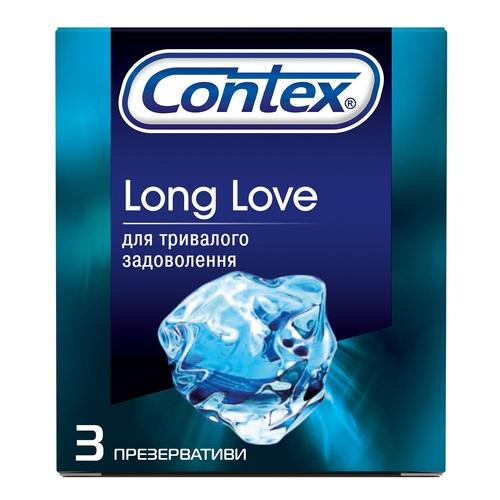 КОНТЕКС ПРЕЗЕРВАТИВИ №3 Long Love з анестетиком - фото 1   Сеть аптек Viridis
