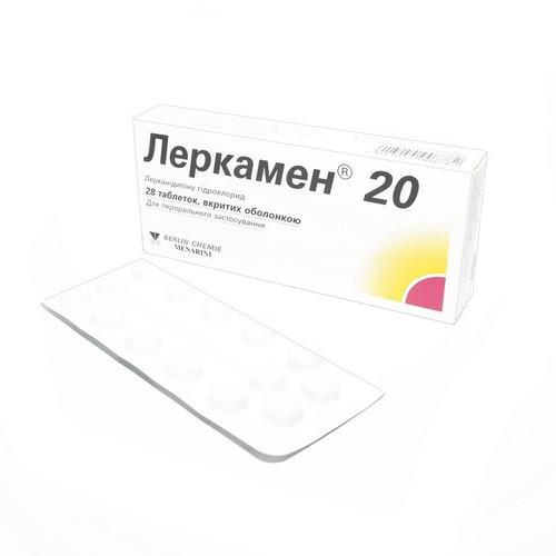 ЛЕРКАМЕН ТАБ. 20МГ №28