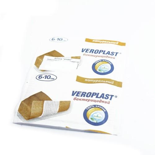 Лейкопластырь бактерицидный ВЕРОПЛАСТ натуральный 6*10 купить в Киеве
