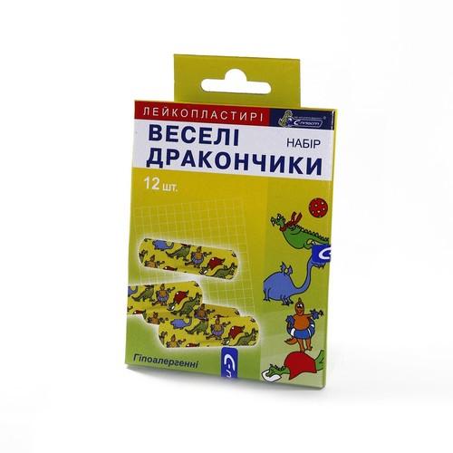 ЛЕЙКОПЛАСТЫРЬ С-ПЛАСТ,НАБОР ВЕСЕЛЫЕ ДРАКОНЧИКИ №12 купить в Славутиче