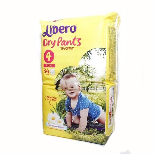 ЛИБЕРО DryPants 4 (7-11кг) №34 купить в Броварах