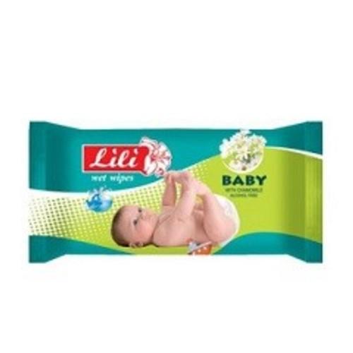 ЛИЛИ Салфетки влажные детские с экстрактом ромашки 15шт купить в Ирпене