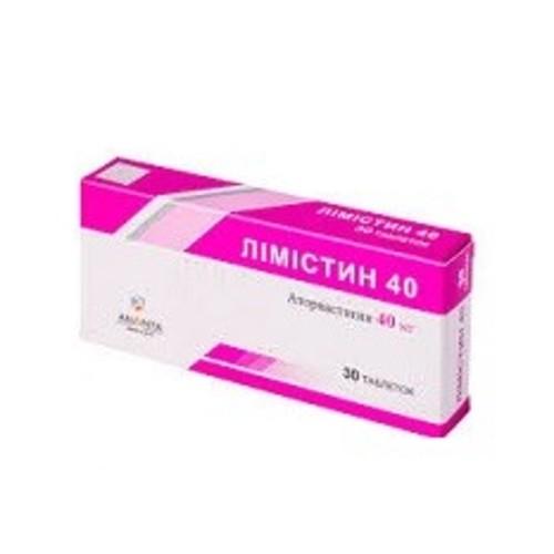 ЛИМИСТИН 40 ТАБ. 40МГ №30 купить в Киеве