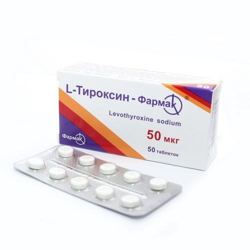 Л-ТИРОКСИН-Ф ТАБ. 50МКГ №50 купити в Ирпене