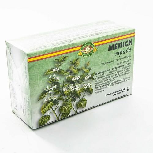 МЕЛИССЫ ТРАВА 1,5Г В Ф/П №20 купить в Славутиче