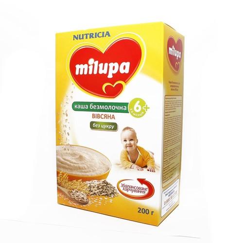 МИЛУПА Каша безмолочная овсяная  без сахара 200г - фото 1 | Сеть аптек Viridis