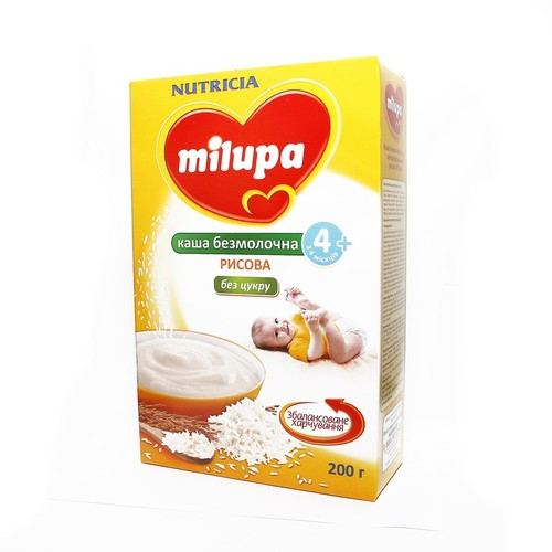 МИЛУПА Каша безмолочная сухая быстрорастворимая рисовая с 4мес. купить в Житомире