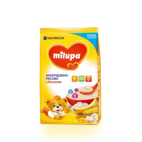 МИЛУПА Каша молочная кукурузно-рисовая с бананом с 5 мес. 210г