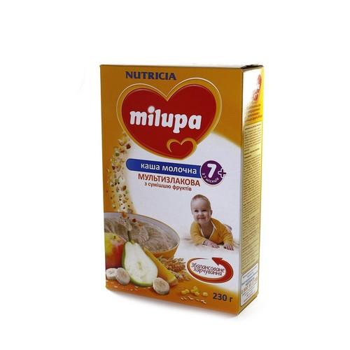 МИЛУПА Каша молочная мультизлаковая с фруктами с 7 мес. 230г