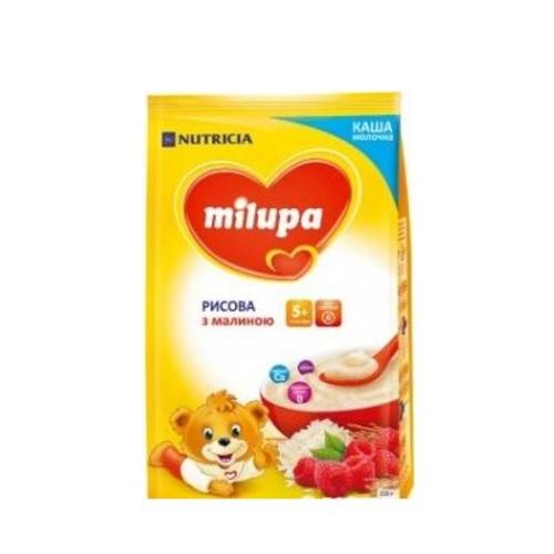 МИЛУПА Каша молочная рисовая с малиной с 5 мес. 210г купить в Броварах