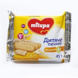 МИЛУПА Печенье детское пшеничное с 6 месяцев 45г