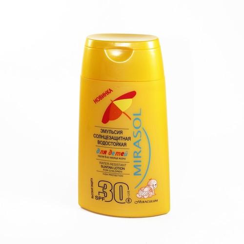 MIRASOL Эмульсия солнцезащитная детская SPF30 150мл
