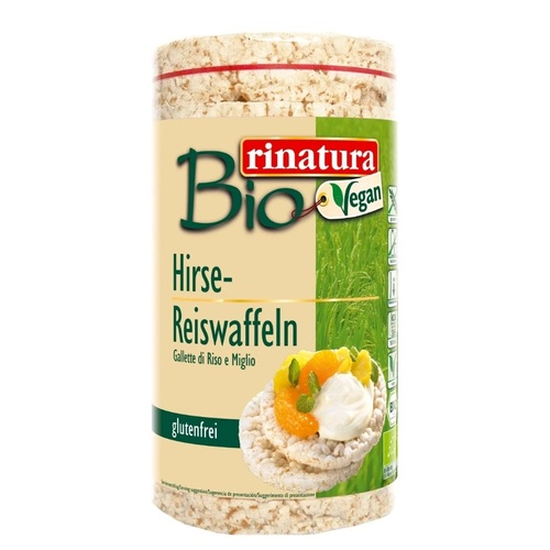 РИНАТУРА Коржики з просу та рису 100 гр органічні без глютену Rinatura Німеччина