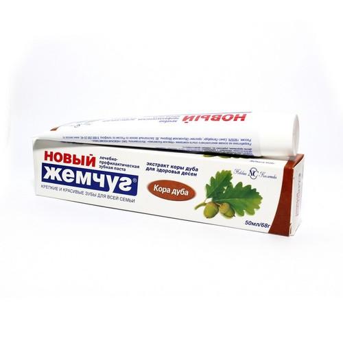 НОВЫЙ ЖЕМЧУГ зубная паста Кора дуба 50мл купить в Славутиче