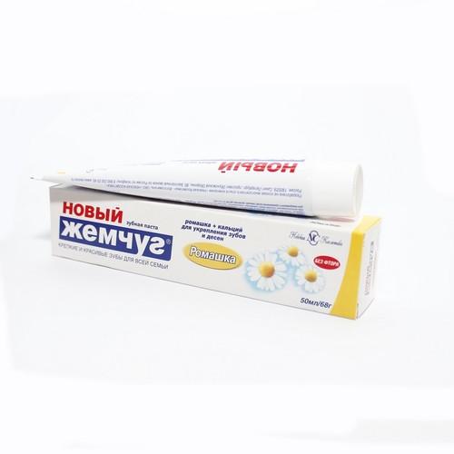 НОВИЙ ЖЕМЧУГ зубна паста Ромашка 50мл купити в Броварах