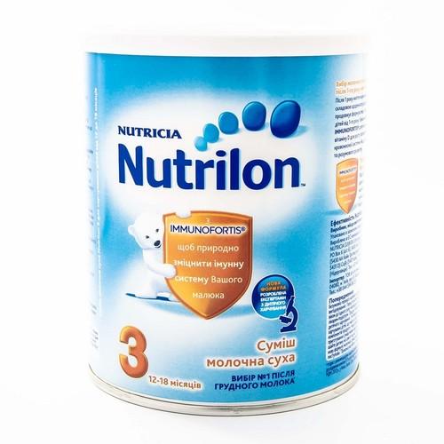 НУТРИЛОН 3 с пребиотиками с 12 мес.400г купити в Броварах