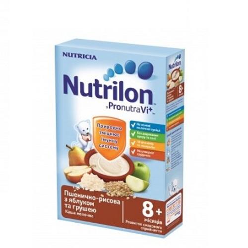 НУТРИЛОН Каша молочная быстрорастворимая пшенично-рисовая с яблоком и грушей с 8 мес. 225г купить в Ирпене