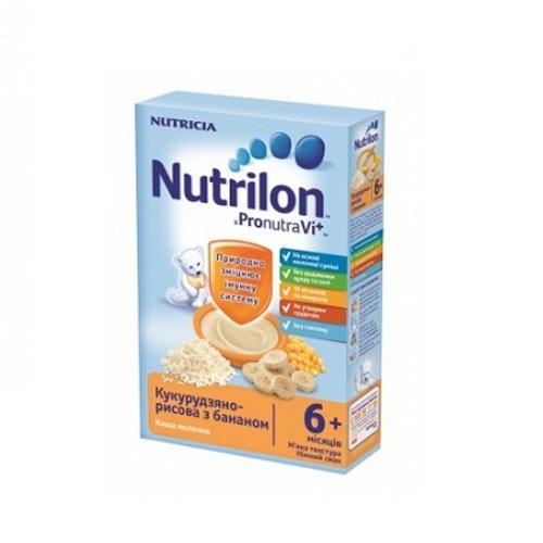 НУТРИЛОН Каша молочная сухая быстрорастворимая кукурузно-рисовая с бананом 225г купить в Ирпене