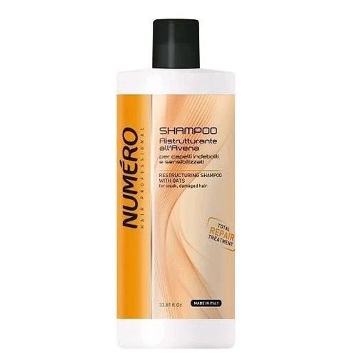 БРЕЛИЛ НУМЕРО Шампунь восстанавливающий для волос с экстрактом овса 1000мл - фото 1   Сеть аптек Viridis