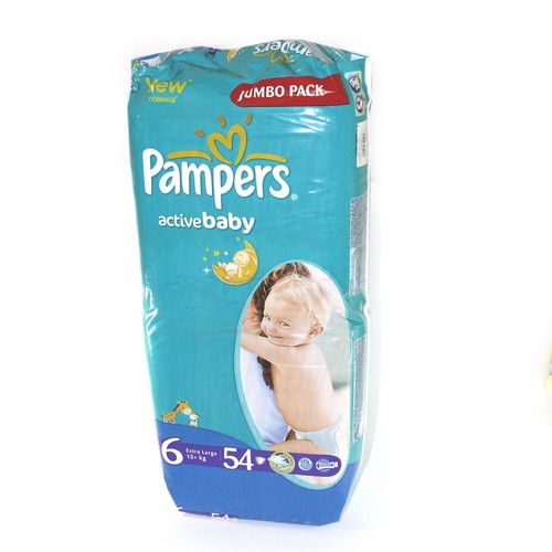 ПАМПЕРС Дит. підгуз. Act. baby Extra Large (15+кг) Джамбо №54 купити в Славутиче
