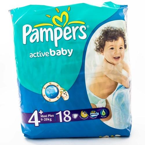 ПАМПЕРС Дет. подгуз. Act. baby Maxi Plus (9-16кг) Стандарт №18