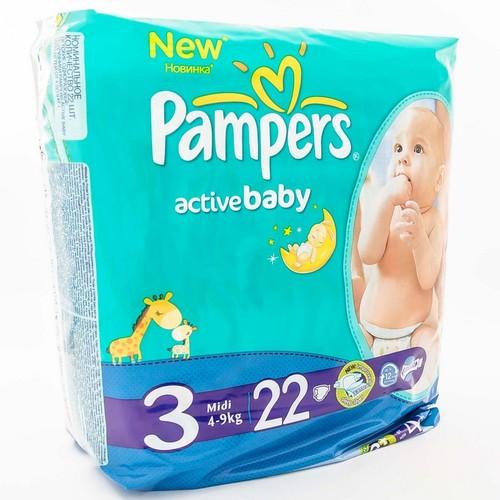 ПАМПЕРС Дет. подгуз. Act. baby Midi (4-9 кг) Стандарт №22