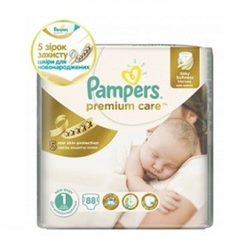 ПАМПЕРС Дет. подгуз. Prem. Care NewBorn (2-5кг) Эконом №88
