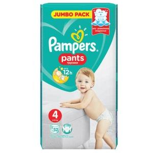 ПАМПЕРС Дет. подгуз.-трусики Pants Maxi (9-15кг) Джамбо №52