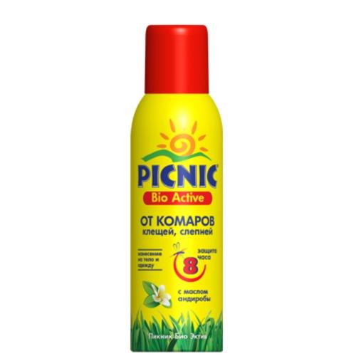 ПИКНИК БИО-АКТИВ Аэрозоль от комаров и клещей 125мл купить в Славутиче