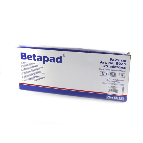 Пластырь Betapad  на н/ткан. ос. 9см х 25см №25