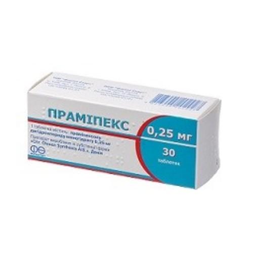 ПРАМИПЕКС ТАБ. 0,25МГ №30 купить в Броварах