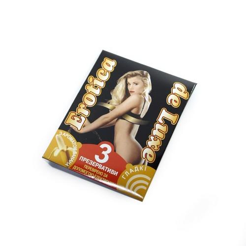 ПРЕЗЕРВАТИВ EROTICA DELUXE PLAIN №3 ГЛАДКИЕ купить в Житомире