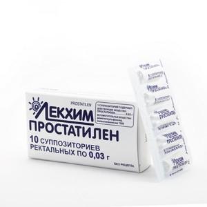 ПРОСТАТИЛЕН СУПП. РЕКТ. 0,03Г №10