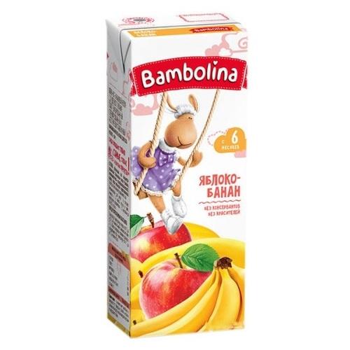 БАМБОЛИНА Нектар Яблочно- банановый  200 мл с 6 мес. - фото 1 | Сеть аптек Viridis