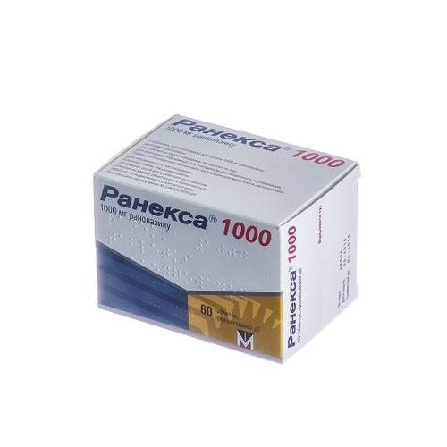 РАНЕКСА 1000 ТАБ. 1000МГ №60 - фото 1 | Сеть аптек Viridis