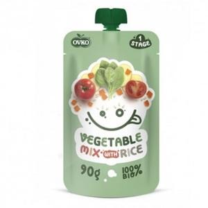 ОВКО Пюре органическое Овощи с рисом 90г