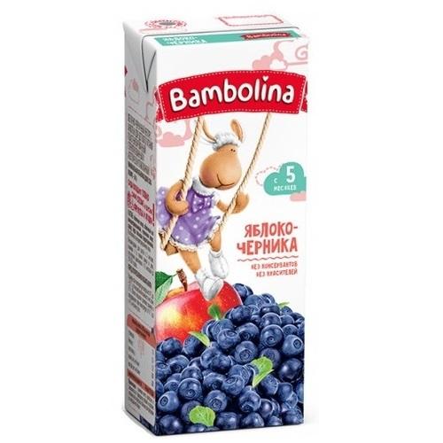 БАМБОЛИНА Нектар Яблоко-черника 200 мл с 5 мес. - фото 1 | Сеть аптек Viridis