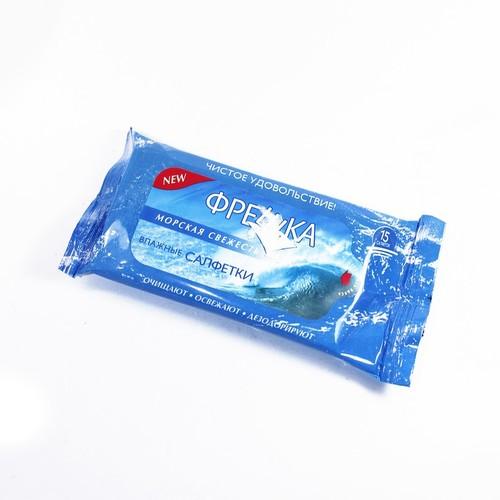 САЛФЕТКИ влажные Фрешка Морская свежесть 15шт купить в Житомире