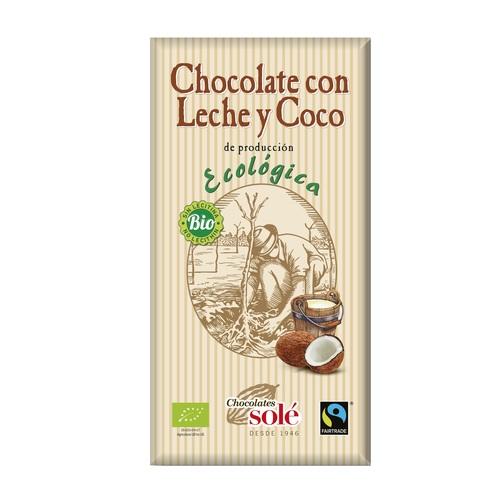 Соле Шоколад молочний з  кокосовим горіхом  100 гр
