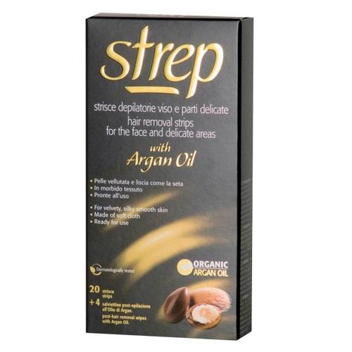 СТРЕП Восковые полоски для лица и линии бикини STREP «ARGAN OIL» Аргановое масло20шт - фото 1 | Сеть аптек Viridis