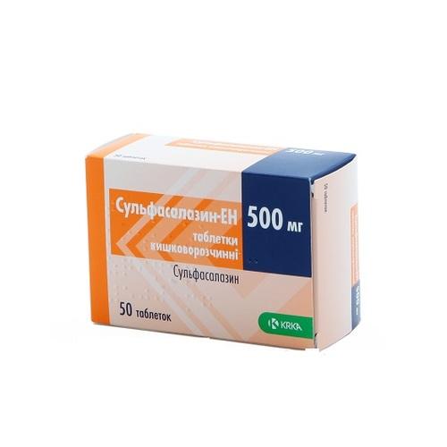 СУЛЬФАСАЛАЗИН-EH ТАБ. 500МГ №50 купить в Ирпене