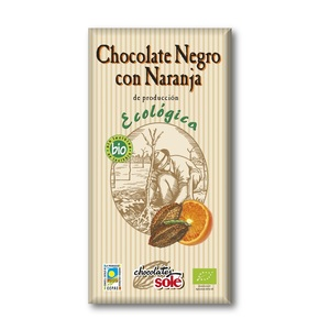 Соле Шоколад темний 56% какао з апельсином  органичний  100 гр