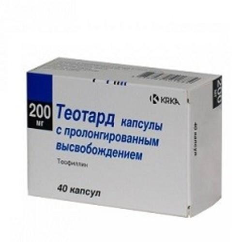 ТЕОТАРД КАПС. 200МГ №40