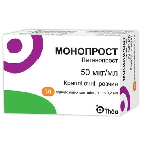 МОНОПРОСТ КРАПЛІ ОЧНІ 0.2МЛ №30 - фото 1 | Сеть аптек Viridis