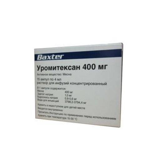 УРОМІТЕКСАН АМП. 100МГ/МЛ 4МЛ (400МГ) №15 - фото 1 | Сеть аптек Viridis