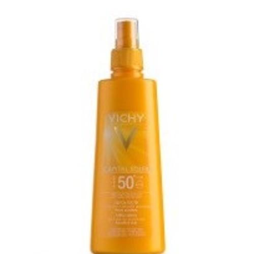 ВИШИ Идеаль Солей Солнцезащитный спрей для тела идеальный загар SPF 50+ 200мл